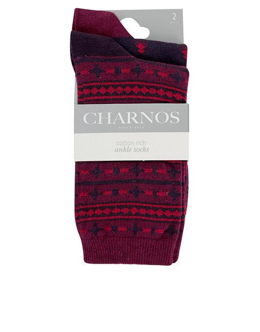 Charnos Hosiery Geo and Fairisle Socks 2 Pack