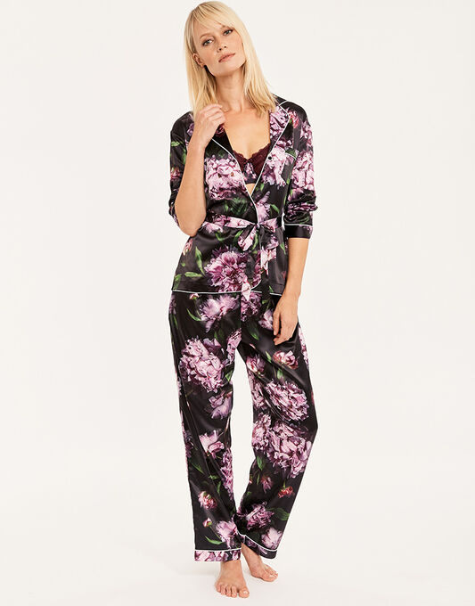 figleaves Phoebe Satin Belted Pyjama Set