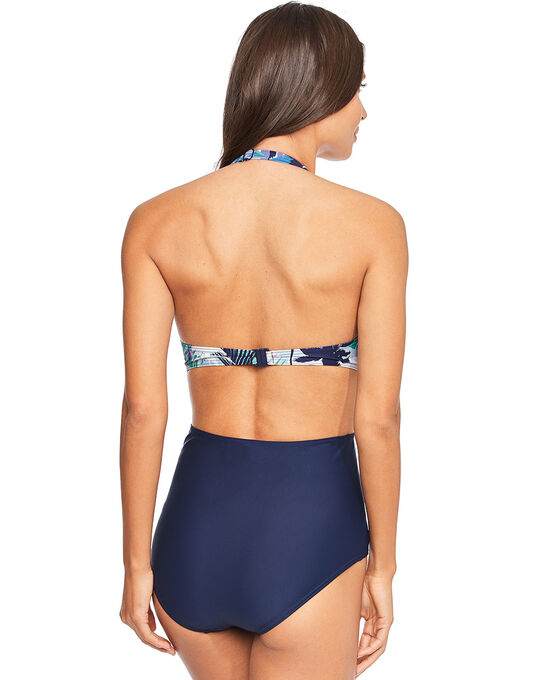 figleaves Island Dream Cut Out Halter Swimsuit