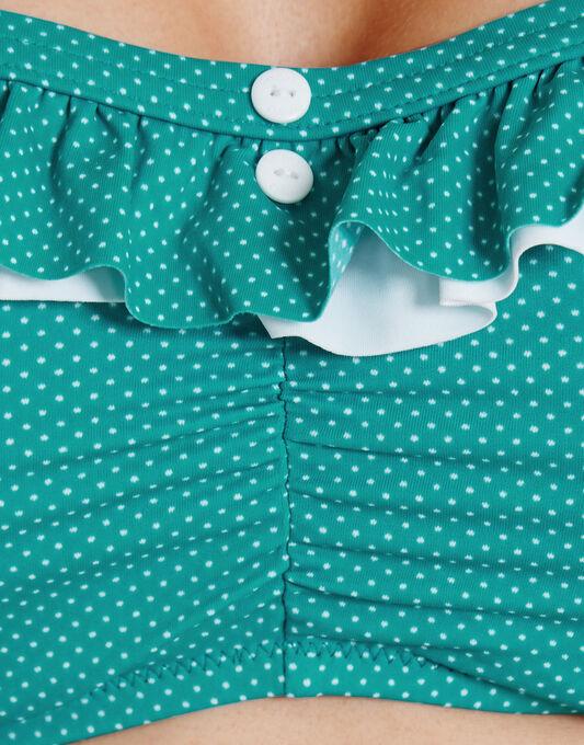 Cherish Pin Spot Underwired Bandeau Bikini Top
