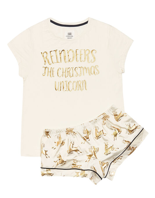 Chelsea Peers Golden Reindeers Short Set