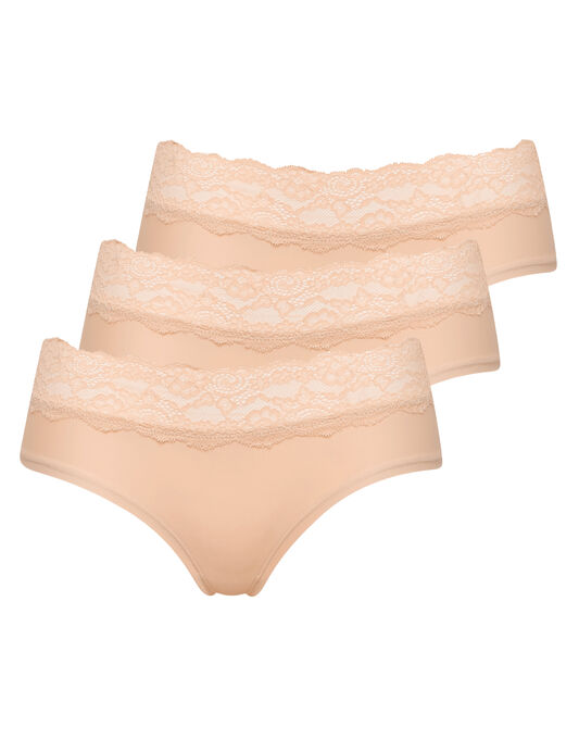 Microfibre And Lace 3 Pack Short