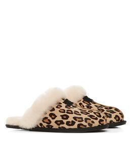 UGG Australia Scuffette Mule Sheepskin Leopard Slipper