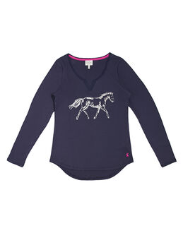 Joules Nita Print Cotton Jersey Top