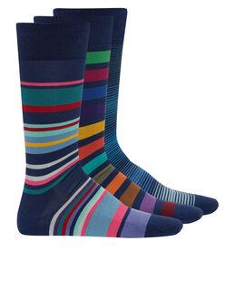 Paul Smith Stripe 3 Pack Socks