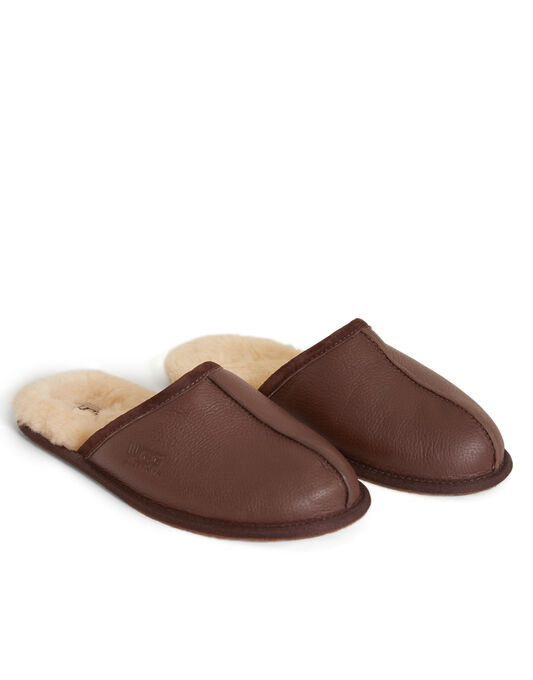 Scuff Leather Slipper