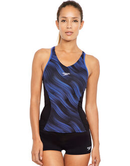 Speedo Fit Allover Splice Tankini Set