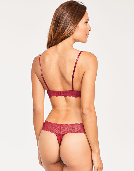 Calvin Klein Seductive Comfort W/Lace Plunge Lightly Lined