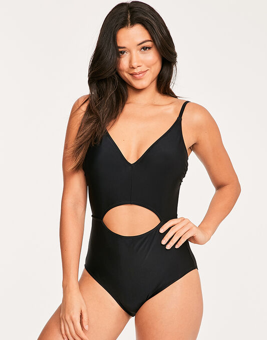 figleaves Puzzle Soft Cut Out Tummy Control Swimsuit