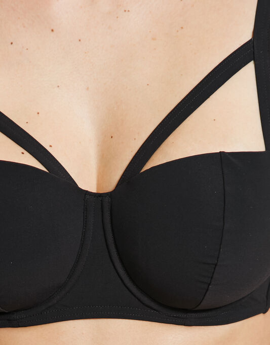 figleaves Strapping Underwired Bikini Top
