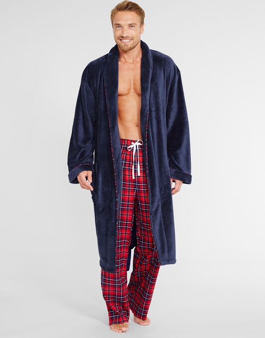 FGL Luxury Supersoft Contrast Piping Robe