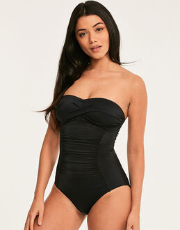 figleaves Illusion Bandeau Firm Control Swimsuit