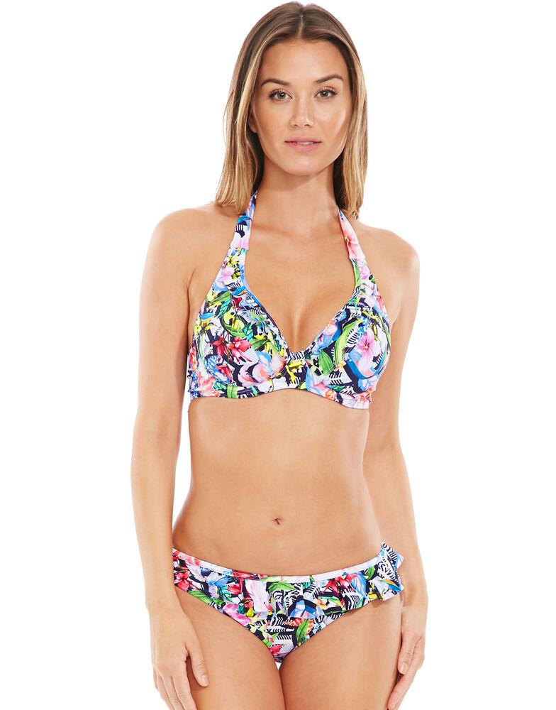 Luau Underwired Non-padded Halter Bikini Top