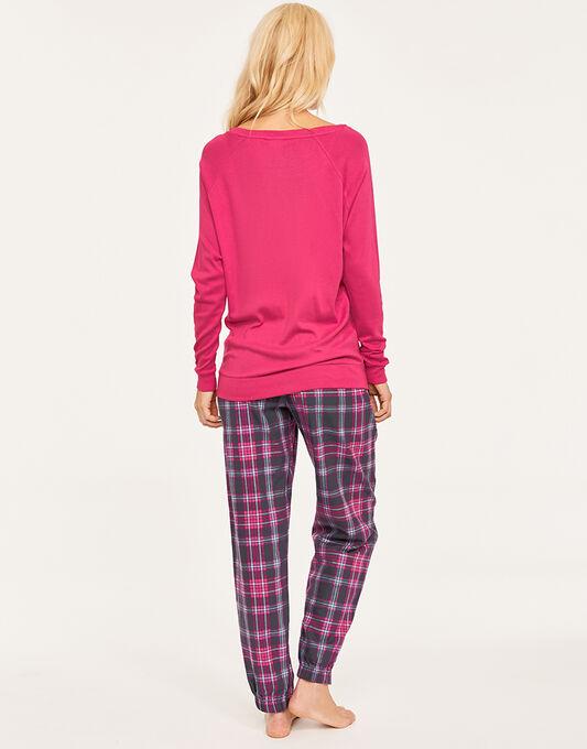 Cyberjammies Bella Knit Top + Check Pant