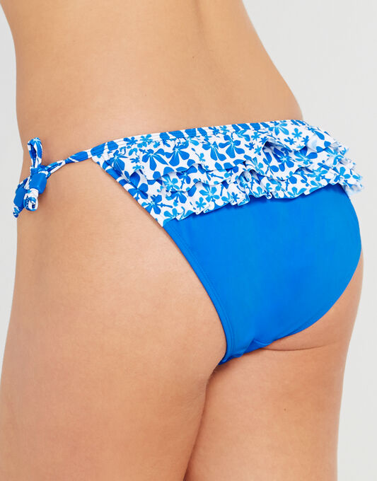Coral Reef Ruffle Tie Side Brief