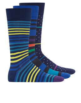 Paul Smith Spot And Stripe 3 Pack Socks
