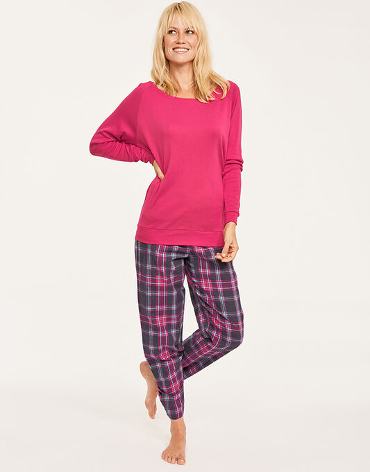 Cyberjammies Bella Knit Top + Check Pant