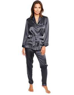 figleaves Ava Pure Silk Belted PJ Set
