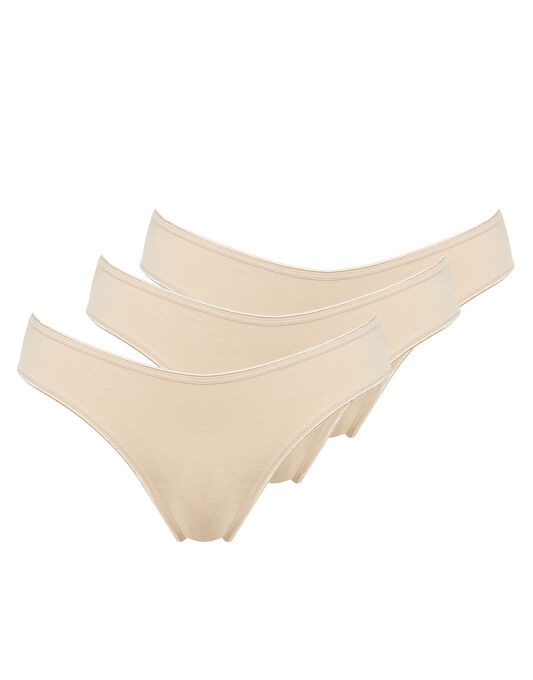 Just Peachy Cotton Comfort 3pk Brief
