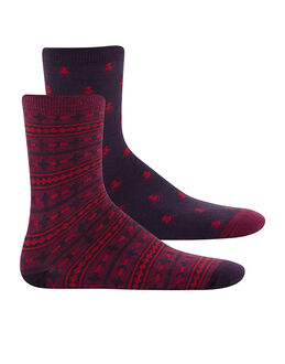 Charnos Hosiery Geo and Fairisle Socks 2 Pack