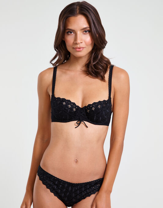 Bahia three quarter cup bra