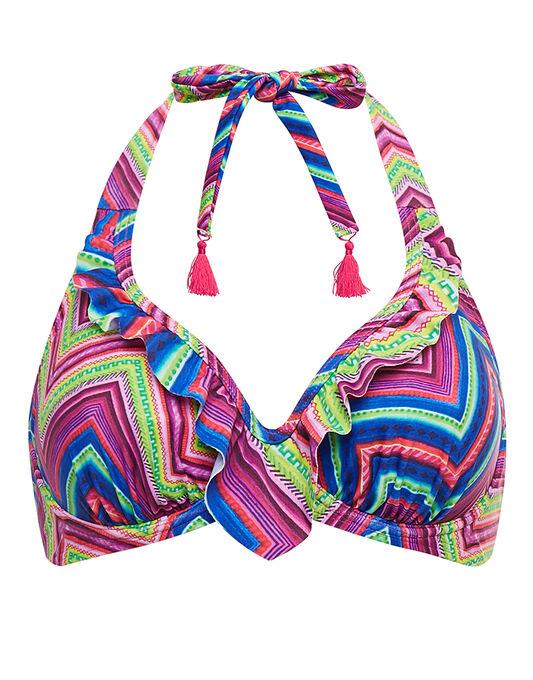 figleaves Solana Underwired Non Padded Halter Bikini Top