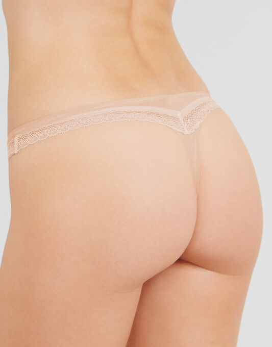 Sexy Signature Thong With Lace
