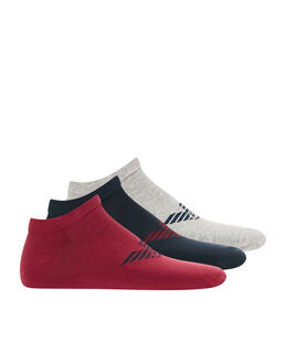 Emporio Armani Stretch Cotton 3 Pack Trainer Sock