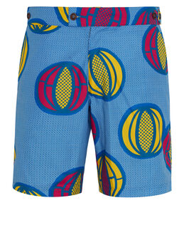 Okun Patrice Melon Print 9 Inch Tailored Short
