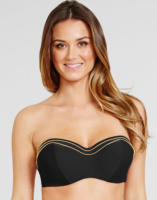 figleaves Britt Underwired Bandeau Bikini Top