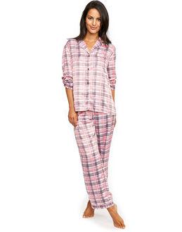 figleaves Satin Check Pyjama Set