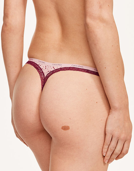 Calvin Klein Bottoms Up Thong 3PK