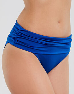 Pour Moi? Azure Fold Over Ruched Brief