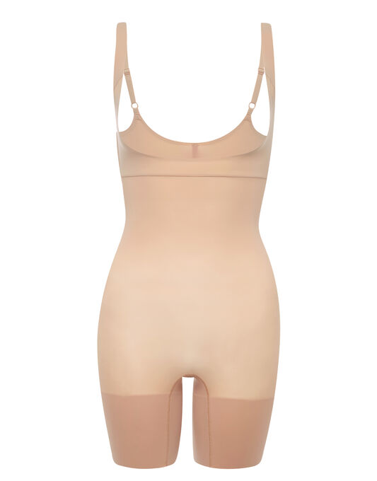 Spanx Shape My Day Open Bust Mid Thigh Bodysuit
