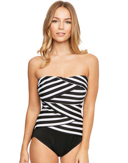 Miraclesuit Stripe A Lot Muse Underwired Firm Control Swimsuit
