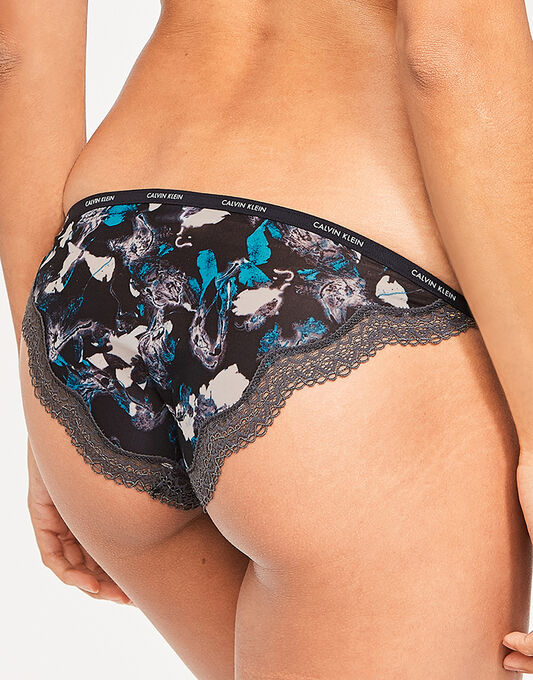 Calvin Klein Sheer Marquisette W/Lace String Bikini