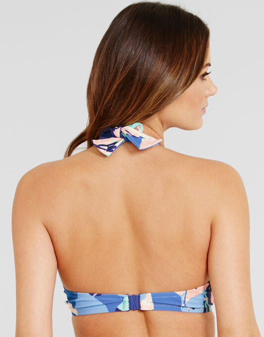 figleaves Lucia Underwired Non Padded Halter Bikini Top