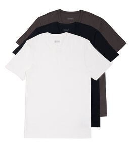 BOSS Black Cotton 3 Pack Crew Neck T Shirt