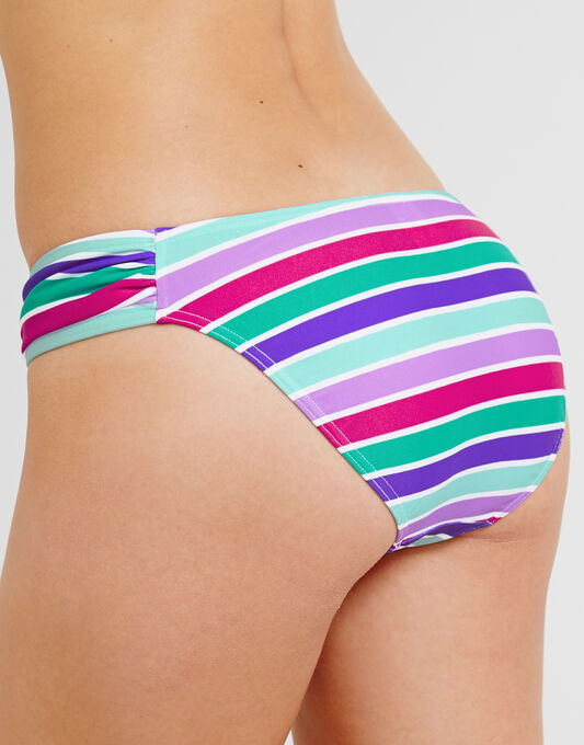 figleaves Berry Mojito Ruched Side Brief