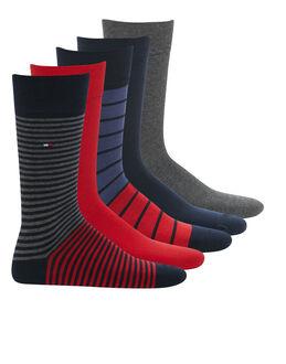 Tommy Hilfiger Stripe 5 Pack Sock Gift Box