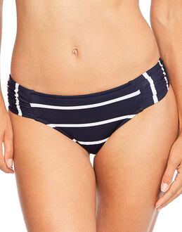 Seafolly Castaway Stripe Ruched Side Retro Brief