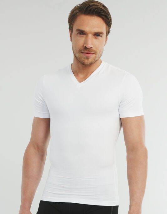 Spanx for Men Cotton Compression V Neck T-shirt