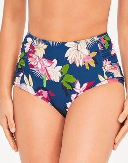 figleaves Luana High Waist Tummy Control Floral Brief