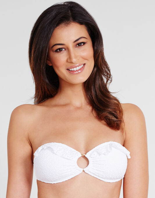 Melissa Odabash Greece Crochet Bandeau Bikini Top