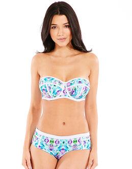 figleaves Cali Underwired Bandeau Scuba Bikini Top