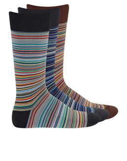 Paul Smith Multistripe 3 Pack Sock Gift Box