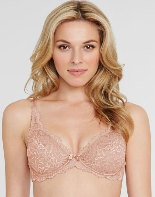 Flower Lace Underwired Bra