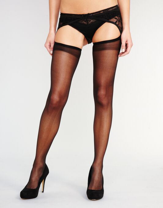 15 Denier Boudoir Collection Lace Suspender Tights