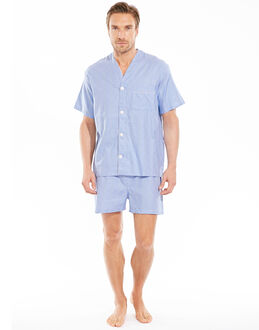 Derek Rose Barker V-Neck Shortie PJ Set