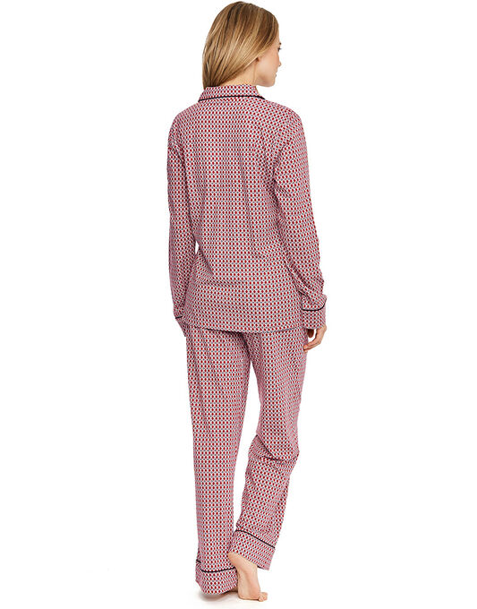 DKNY New Classic Folded Fleece L/S Notch Top & Pant Set